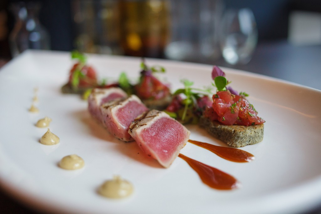 Seared Ahi Tuna. Dinner at 1700 Degrees Steakhouse in Harrisburg, PA